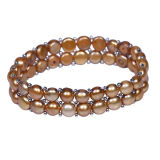 卸し売り二重層の淡水の真珠はブレスレットに玉を付ける