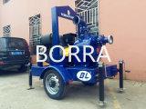 トレーラーによって取付けられる空気冷却の自動プライミングディーゼル機関の排水の水ポンプ