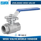 robinets à tournant sphérique d'acier inoxydable de la CE 2PC