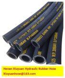 Boyau en caoutchouc flexible spiralé de pétrole hydraulique