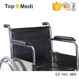 セリウムの公認の熱い販売障害者のための経済的なクロム染料で染められた鋼鉄フレームUの形のシートの整理ダンスの車椅子