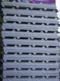 Painel de sanduíche à prova de fogo da cor branca para a aplicação da parede e do telhado