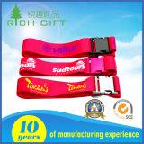 Gesponnenes Wärmeübertragung-gedrucktes Abzuglinie-Armband mit Plastikfaltenbildung-Großverkauf