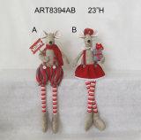 Decoración larga Gift-2asst. del día de fiesta del canguro del ratón de la pierna