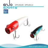 Richiamo superiore selezionato dell'attrezzatura di pesca di Popper dell'acqua del pescatore con Vmc gli ami tripli (SPP140113)