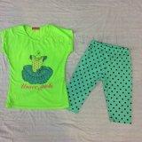 スクエア6673子供の衣服のための夏の女の赤ちゃんの子供のスーツ