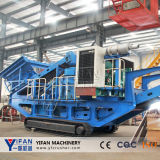 Máquina móvel do triturador de pedra da esteira rolante do elevado desempenho
