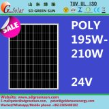 24V (195W-210W), módulo leve solar com tolerância positiva (2017)