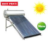 Riscaldatore di acqua solare dell'acciaio inossidabile con la valvola elettronica del condotto termico