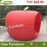 Patio-Möbel-im Freien weißes Rattan-Apple-Bett