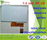 7 écran tactile d'option du module 800X480 RVB 40pin 300CD/M2 de TFT LCD de pouce