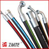Boyau hydraulique tressé de fil d'acier de SAE R17