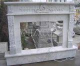 Camino di marmo bianco per il granito dell'interno del marmo di colore giallo della decorazione