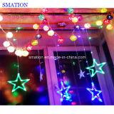 装飾的なカーテン屋外RGB多彩なストリングXmas LEDのクリスマスの照明