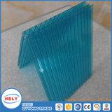 Cristal que obstrui a folha do policarbonato da cavidade da tampa da telhadura da parede