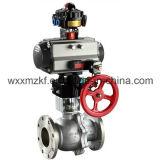 Válvula de esfera pneumática do controle do atuador giratório (ISO9001: 2008)
