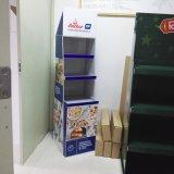 Prateleiras de indicador do assoalho do cartão da escora para o alimento, carrinho de indicador do supermercado