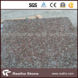 Telhas cor-de-rosa vermelhas do granito G687 do pêssego chinês barato para o revestimento/parede