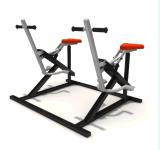 A ginástica dobro do campo de jogos do cavaleiro do divertimento ostenta o equipamento da aptidão do parque (Blo-063}