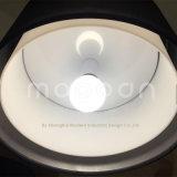 Nach Maß erstklassige schwarze Golddoppelte Schicht-Gewebe-Kunst-Esszimmer-hängende Lampe