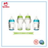 frascos de alimentação de vidro do bebê 210ml para bebês com luva