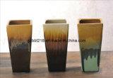 Pot rectangulaire en céramique vitré réactif de Flowe (GW1750)
