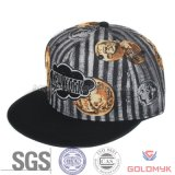 Custom Logoの標準的なDesign Fabric Fitted Cap