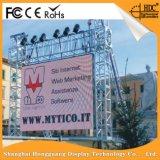 Indicação digital ao ar livre do diodo emissor de luz P16 que anuncia a tela de indicador