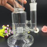 Coppa di vetro di vetro del tubo di acqua di Bontek con il barilotto ed il favo Percs