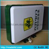 Caixa leve plástica acrílica ao ar livre de indicador de diodo emissor de luz