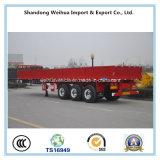 Reboque Flatbed da carga de maioria de 3 reboques da parede lateral do eixo Semi feito em China