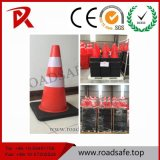 Конус движения PVC отражательной пластмассы дорожных знаков померанцовый отражательный