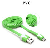 Micro USB를 위한 Noodle Charging와 Data 편평한 USB Cable