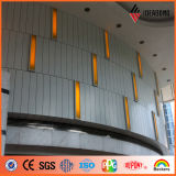 Panneau en aluminium de dépliement intérieur de décoration de mur de ruban de polyester d'Ideabond (AE-32E)