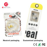 Écouteurs en plastique de câble par écouteurs de marquage à chaud d'OEM pour la vente en gros