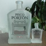 bereifte Glasflasche 750ml für Wodka-Spiritus