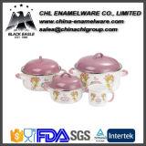 China-Lieferant FDA Standardfirmenzeichen-Abziehbild-Roheisen-Kasserolle