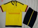 2015熱い販売のコロンビアの黄色く青いサッカージャージー