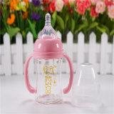 120ml Wide Neck Crystal Diamond Garrafa de vidro para bebê
