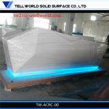 棒家具LEDのダイヤモンドの受付表現代LEDのフロント