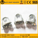 DIN 741 avec des clips de câble métallique de Mallealbe de cannelure