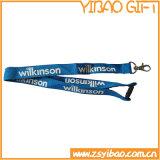 Personalizada de alta calidad de la cuerda de seguridad de poliéster para titular de la tarjeta de identificación (YB-l-003)