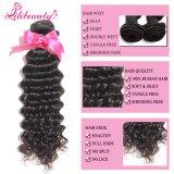 卸売100%のマレーシア人のRemyの人間の毛髪の深い波の毛の束