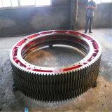 Acero de molde grande del precio de fábrica, engranaje de la circunferencia del horno del hierro para el molino de bola