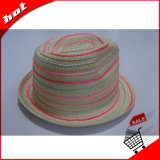 Chapéu de papel colorido do Fedora da palha