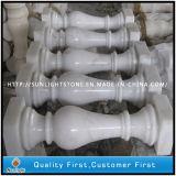 Baluster van de Steen van Guangxi de Witte Marmeren voor Binnen en OpenluchtTrede