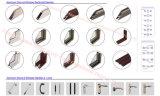 Portelli di alluminio della camera da letto della stoffa per tendine del doppio comitato di vetro Tempered con colore differente