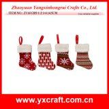 Encantos de la Navidad del calcetín del invierno de la Navidad de la decoración de la Navidad (ZY14Y160-1-2-3)