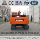Excavatrices moyennes rouges de chenille de l'excavatrice 15ton de machines de Baoding à vendre