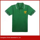 주문을 받아서 만들어진 짧은 소매 면 Mens 폴로 셔츠 의복 (P176)